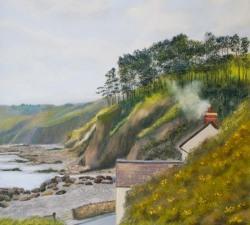 Amroth - A Hidden Treasure : An original pastel by landscape artist Sue Thomas