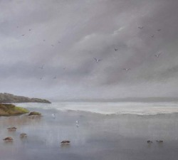 Another Rainy Day! : An original pastel by landscape artist Sue Thomas