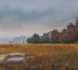 Golden Marsh II : An original pastel by landscape artist Sue Thomas