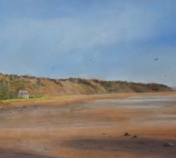 House on the Shore : An original pastel by landscape artist Sue Thomas