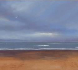 Lone Flight : An original pastel by landscape artist Sue Thomas