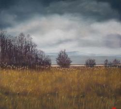 Marshland Retreat: An original pastel by landscape artist Sue Thomas