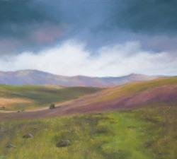 Mountain View : An original pastel by landscape artist Sue Thomas