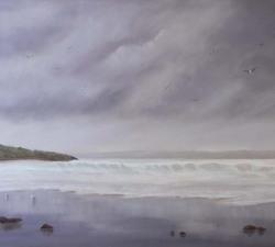 Rhythm of the Sea : An original pastel by landscape artist Sue Thomas