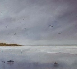 Squally Day : An original pastel by landscape artist Sue Thomas