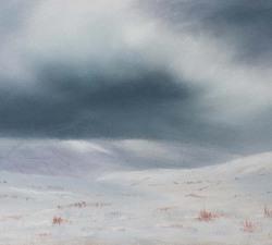 Winter Blues  : An original pastel by landscape artist Sue Thomas