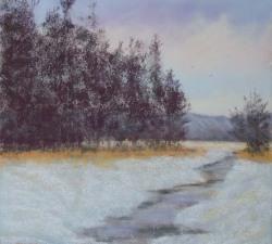 Winter Flight : An original pastel by landscape artist Sue Thomas