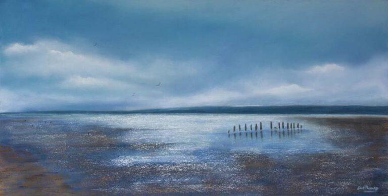 Tranquil Light : An original pastel by landscape artist Sue Thomas